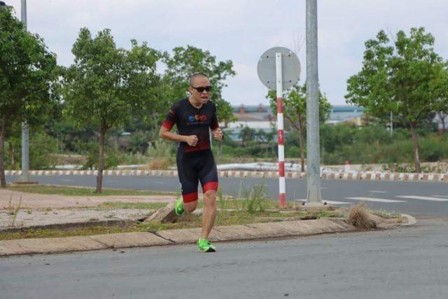 VĐV Phạm Hùng Sơn tại giải VNTC Duathlon. Ảnh: Hoài Thương